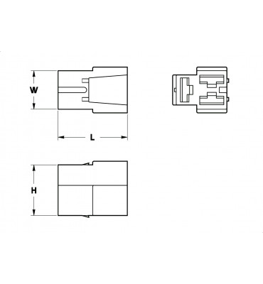 RECEPTACLES HOUSINGS 6,3 3 POSITION