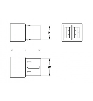 RECEPTACLES HOUSINGS 6,3 2 POSITION