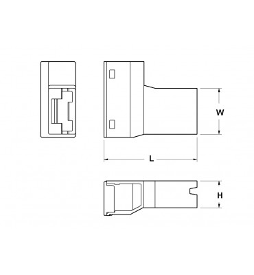 SLEEVES FOR FLAG TYPE RECEPTACLES 6,3 FRONTAL INSERTION WITH CLOSURE DOOR