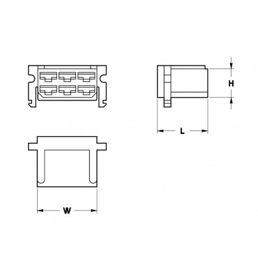 RECEPTACLES HOUSINGS 6,3 6 POSITION WITH LOCK