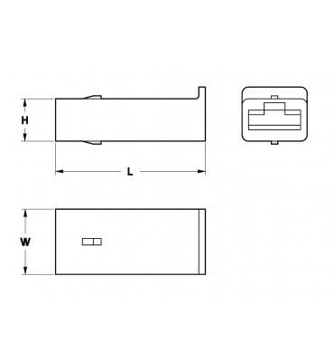 RECEPTACLES HOUSINGS 6,3 1 POSITION