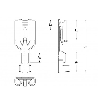 INAR-SAFETY TYPE (A) STRAIGHT RECEPTACLES 6,3