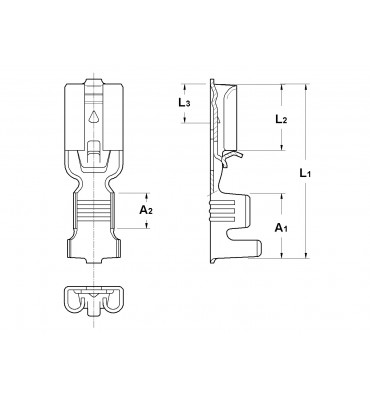 INAR-SAFETY TYPE (A) STRAIGHT RECEPTACLES 4,8 VER. 1