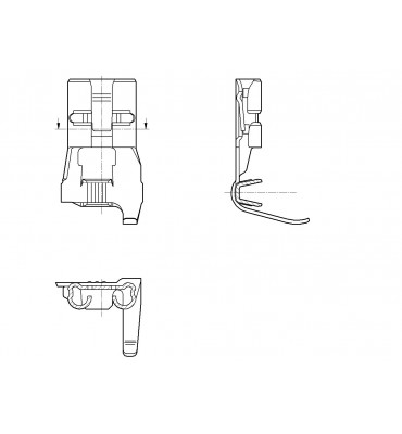 INAR-LIF FLAG TYPE RECEPTACLES 6,3 WITHOUT BOSS