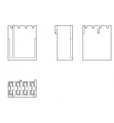 RECEPTACLES HOUSINGS 6,3 4 POSITION