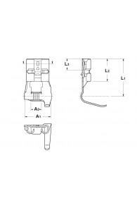 INAR-SAFETY TYPE (C) FLAG TYPE RECEPTACLES 6,3