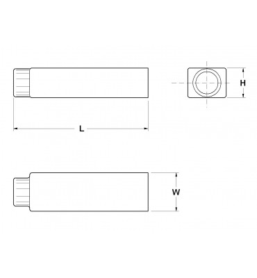 SLEEVES FOR STRAIGHT RECEPTACLES 2,8 REAR INSERTION