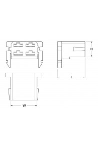 RECEPTACLES HOUSINGS 6,3 4 POSITION WITH LOCK